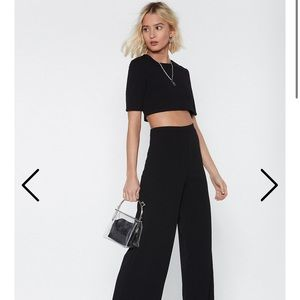 Nasty Gal Breaking up Top and Pant Set